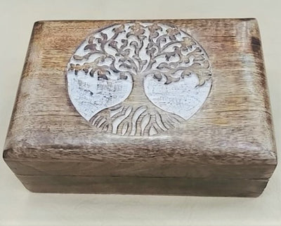 Carved Tree of Life box.