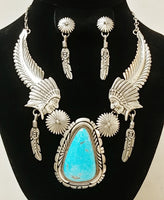 Silver Chiefs Head / Earring Set