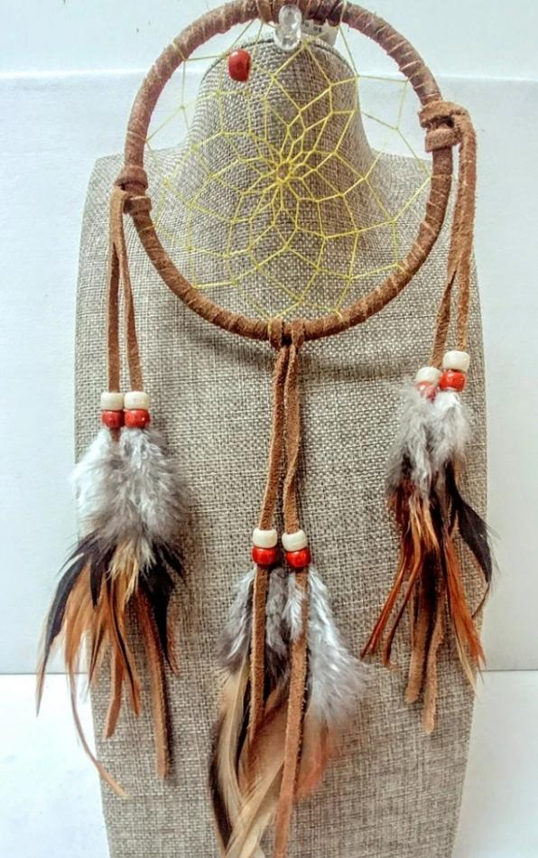"4"" Dream Catcher - Brown"