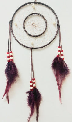 "6"" 2-Ring Dream Catcher - Brown"