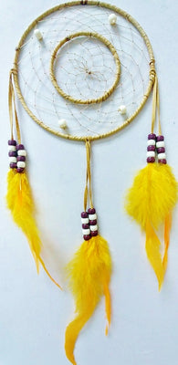 "6"" 2-Ring Dream Catcher - Tan"