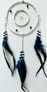 "6"" 2-Ring Dream Catcher - White"