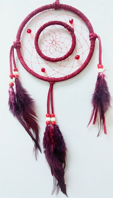 "6"" 2-Ring Dream Catcher - Red"