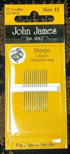 Sharps Needle - Size 11 Longs (12 pack)