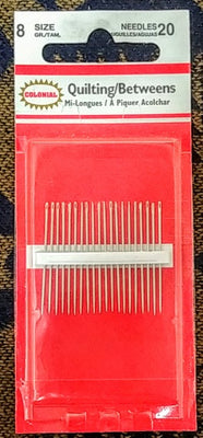 Quilting/Betweens Needles sz8 (20pk)