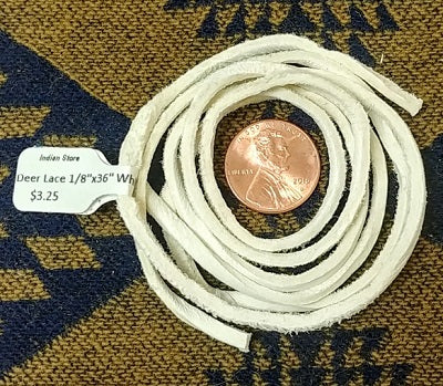 "White 1/8""x 36"" Deer Lace"