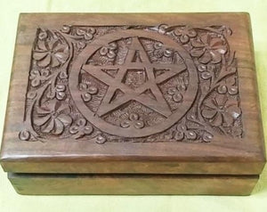 Carved Star/Floral box.