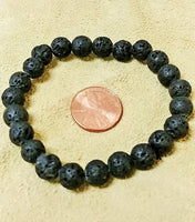 Lava Stretch Bracelet - 8mm Round