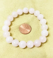 Rose Quartz Stretch Bracelet -10mm Round