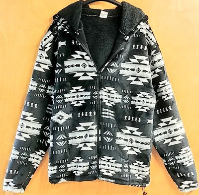 Hoodie Jacket - Silk Touch Black & Grey