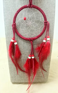 "4"" Dream Catcher - Red"