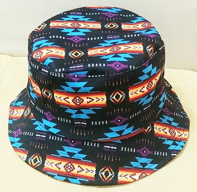 Southwest Style Bucket Hat -Black
