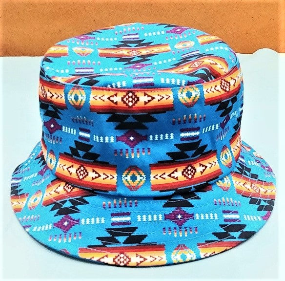 Southwest Style Bucket Hat - Blue