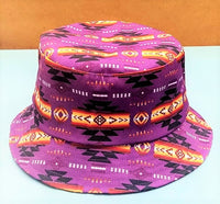 Southwest Style Bucket Hat - Purple