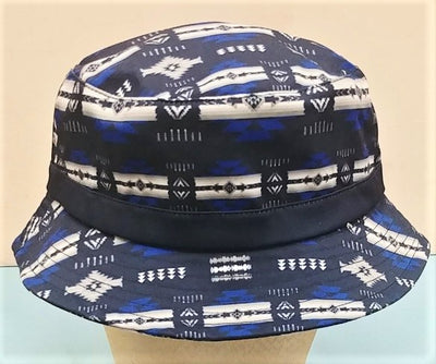 Southwest Style Bucket Hat - Dark Blue