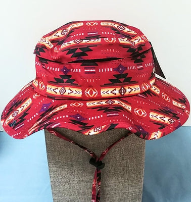 Southwest Style Camper Hat - Red