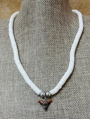 Sharks Tooth (small) Puka Necklace 18""