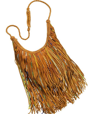Purse - Gypsy Bead Fringed, Tan