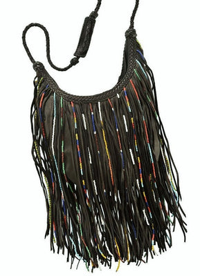 Purse - Gypsy Bead Fringed, Black
