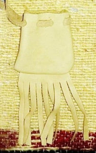 Medicine Bag - Gold w/fringe 2""