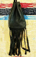 Black w/fringe Medicine Bag 3.5""
