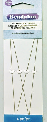 "Collapsible Eye Needles Med 5"" 4pc"