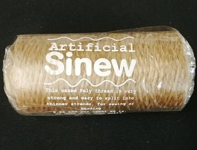 Lt Brown Thin Sinew spool - 400 yds