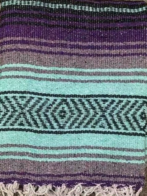 Falsa Blanket Pastel Green/Purple