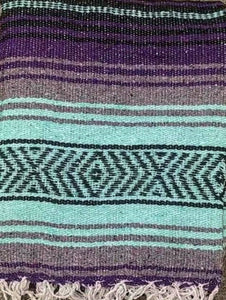 Falsa Blanket Aqua + Grey/Purple