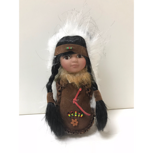 "Moccasin Doll 8"" - Brown"