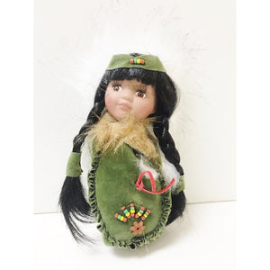 "Moccasin Doll 8"" - Green"