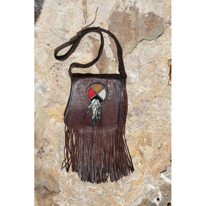 Purse - Circle of Life w/feathers Acorn