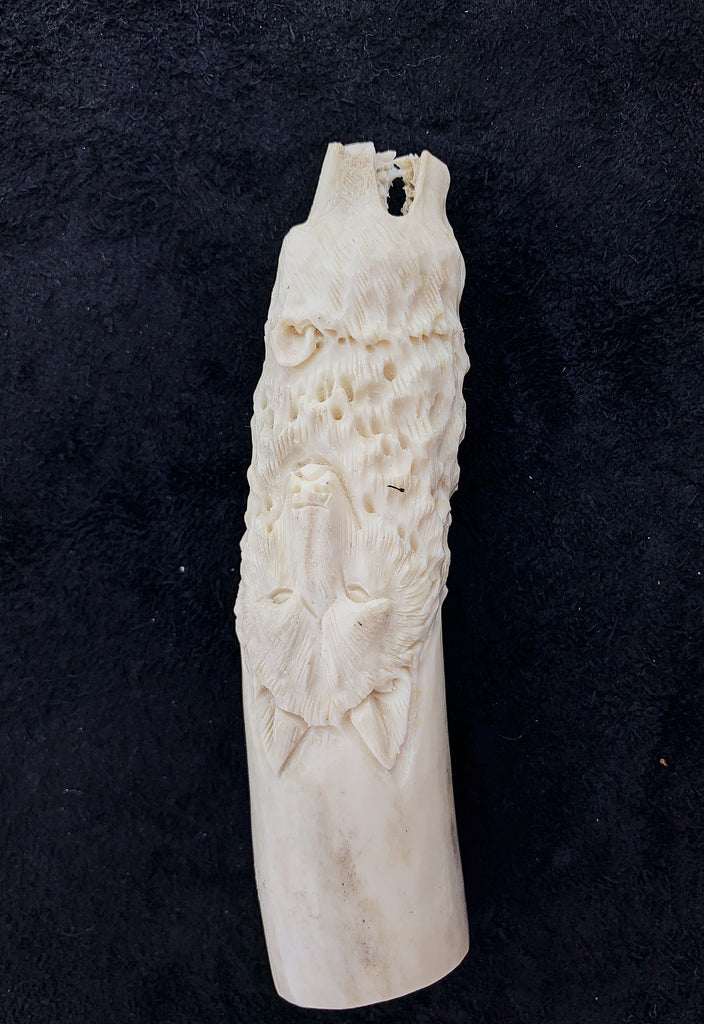 Carved Antler Animal Handles