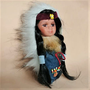 "Moccasin Doll 8"" - Blue"