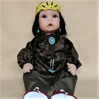 "Frazier Boy Doll 20"" - Brown Velvet"