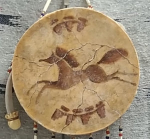 Hand Drum, Painted Horse