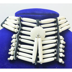 Breastplate Choker- White
