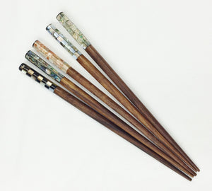 Abalone/MOP Inlay Shell Hair Sticks