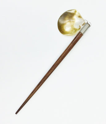 Hair Stick W/Yellow Clam