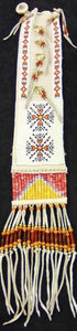 "White Pipe Bag 5.5"" x 26"" w/Beaded Fringes"