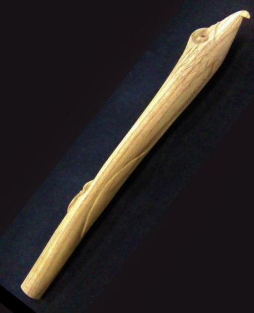 Carved Eagle Pipe Blank 19.5""