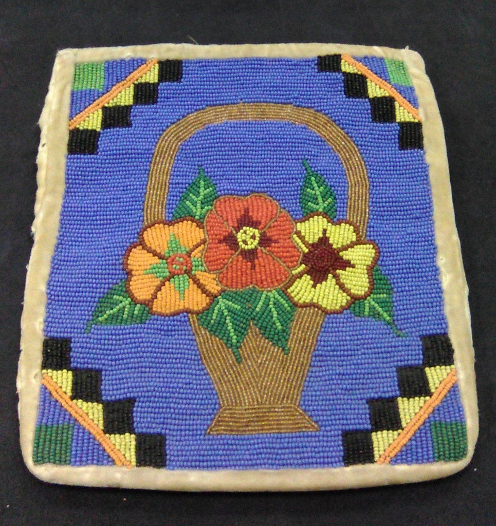 Antique Floral Beaded Bag