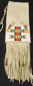 "Beaded Pipe Bag 15"" w/Fringes & Jingle Cones"
