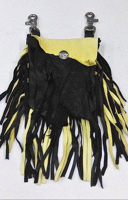 Deerskin Hip Bag - Black & Yellow