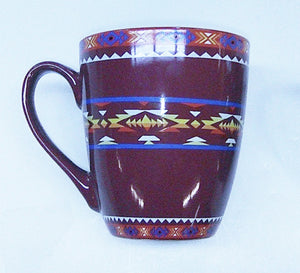 Ceramic Mug Southwest Design #2 - Purple