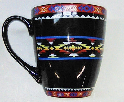 Ceramic Mug Southwest Design #2 - Black