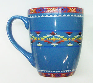 Ceramic Mug Southwest Design #2 - Turquoise