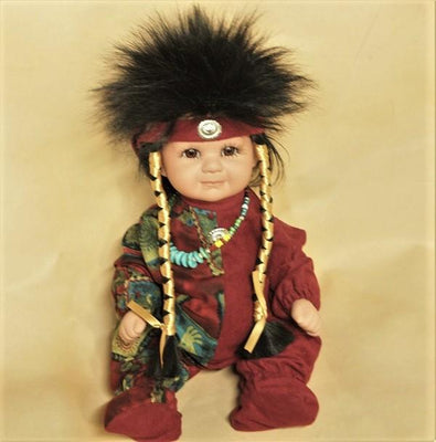 "Navajo Boy Doll 16"" - Red/Pattern"