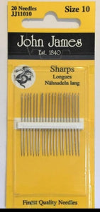 Sharps Needle 20 pack - Size 10