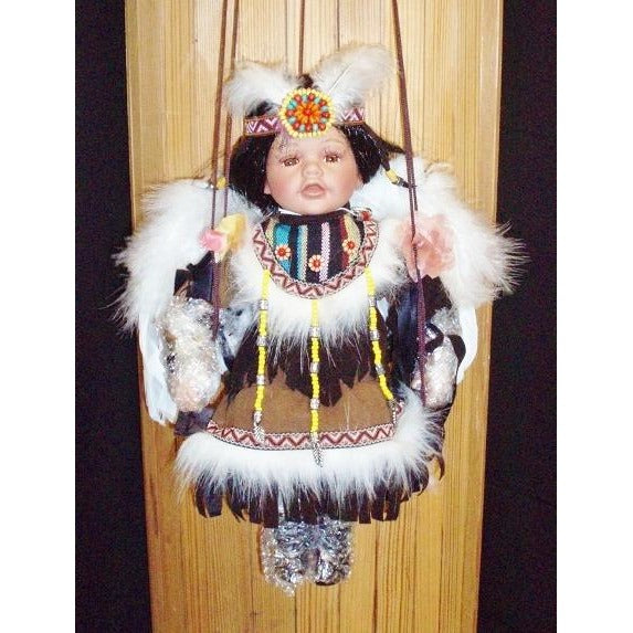 "Doll - 16"" Indian Angel Swing - Light Brown"